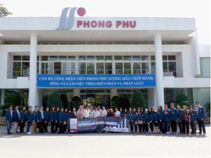 business visit to phong phu textile vietnam
