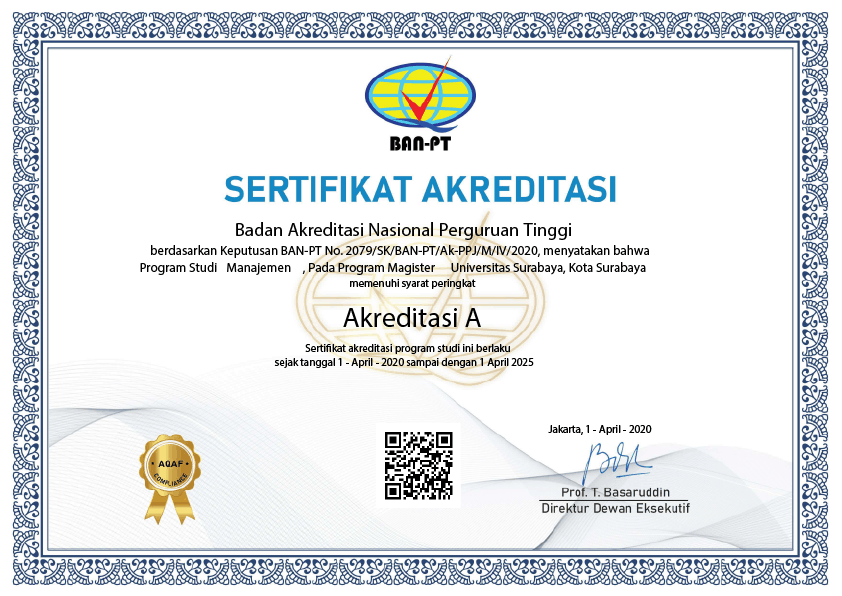 MM UBAYA Accreditation Certificate with rank A from BAN PT